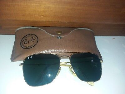 Ray Ban B&L Vintage Pilot Sunglasses Gold Plated 58[]16 USA   used !
