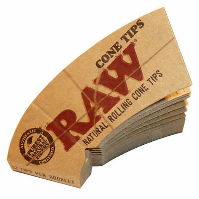 5x RAW Natural Unrefined Perfecto Cone Tips (32 tips each pack)