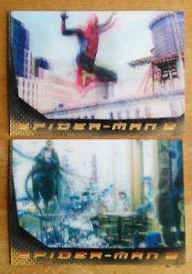 Spider-Man 2 - 2004 Movie - Two Lenticular Chase Cards