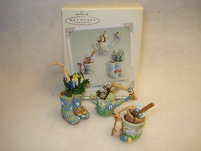 ~2005 Hallmark THE GARDEN AWAKENS Marjolein Bastin Nature's Sketchbook Ornaments