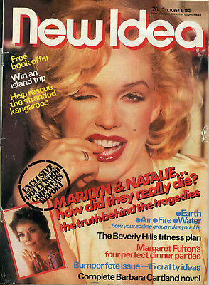 Vintage 1983 New Idea LINDA KERRIDGE on cover thought to be Marilyn Monroe