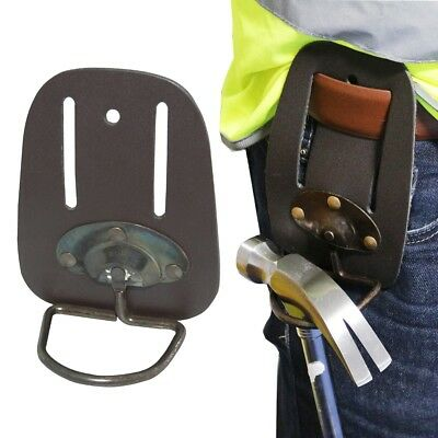 LEATHER SWIVEL HAMMER HOLDER Heavy Duty Belt Loop Holster Tool Storage Pouch