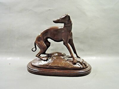 Bronze Dog, Made In Spain, Chiselled By Hand, Sculpture