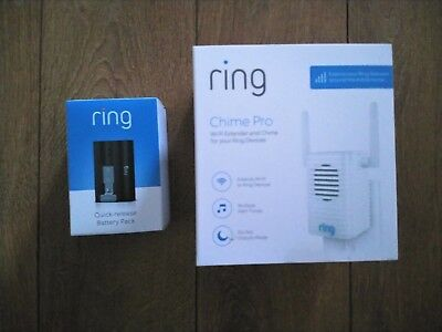 **Chime Pro Wi-Fi Extender & Extra Battery only**BNIB*For Ring Video Doorbell 2*