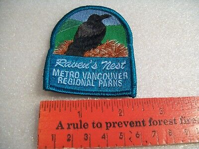Raven's Nest Metro Vancouver Regional Parks badge/patch