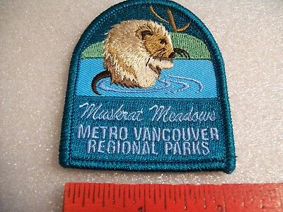 Muskrat Meadows Metro Vancouver Regional Parks badge/patch