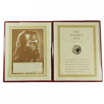 Coins of the Bible Window's Mite Book w/Coin