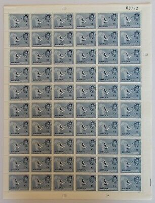 Ghana - SG169 1/3 1957 Independence issue. Complete sheet of 60.