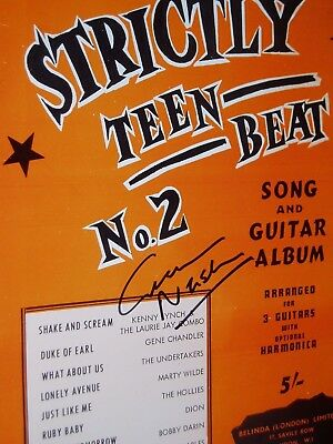 Graham Nash.....the Hollies............. Autograph On Song Book.