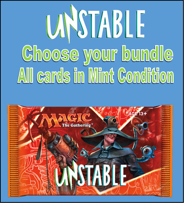 MTG Unstable UST Cards - Choose your Land, Token, Rare, Common, Uncommon packs