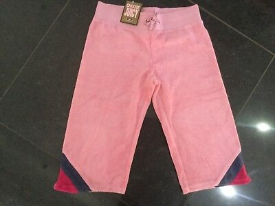 NWT Juicy Couture New & Gen. Pink Crop Leg Cotton Tracksuit Pants Girls Age 8