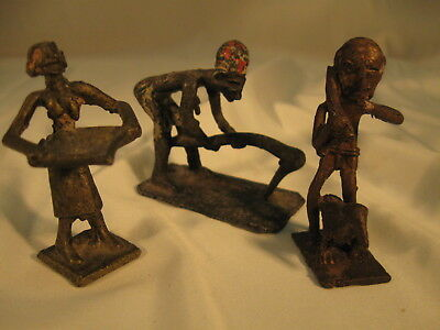 3 Human figure ASHANTI BRONZE Gold WEIGHTS