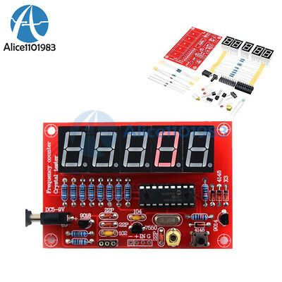 DIY Kits 1Hz-50MHz Crystal Oscillator Frequency Counter Meter Digital LED PIC AT