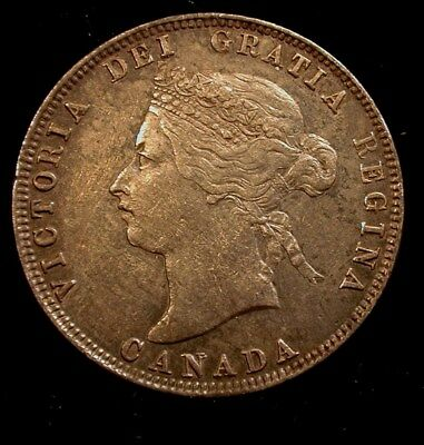 1872 H Canada 25 Cent Type Coin AU Condition                          (CTZPDC)