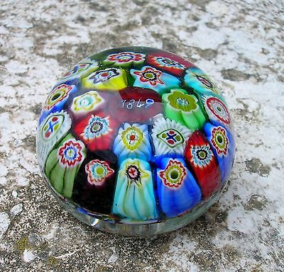 1849-Clichy-Ancien-Presse-papier-Paperweight-Sulfure