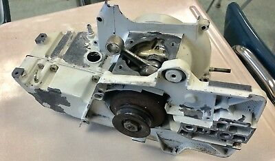 Stihl 08 TS360/TS350 Cutoff Saw Crankcase Housing Clutch Pulley Crank Fuel tank