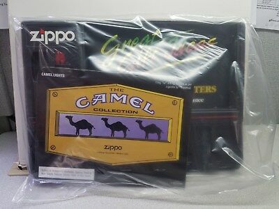 ZIPPO CAMEL DISPLAY BOARD. holds 8 lighters. NEW in box. no lighters.
