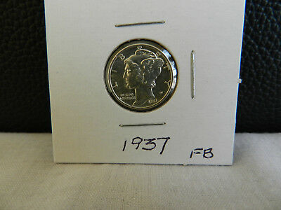 1937 Mercury Dime Brillant Uncirculated with Full Bands