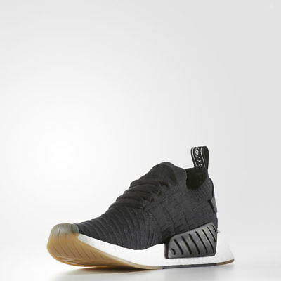 "Men Adidas NMD R2 Primeknit ""Japan"" Core Black/White BY9696"