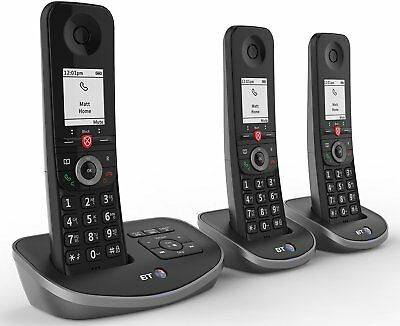 BT Advanced Cordless Home Phone - Nuisance Call Blocker Answer Machine 3 Handset