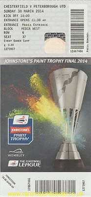 original 2014 johnstone's paint final PETERBOROUGH CHESTERFIELD unused ticket
