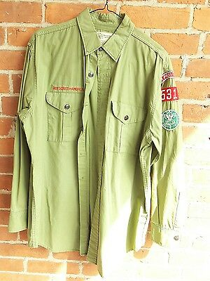 Vintage Boy Scouts Of America Uniform Shirt Sanforized