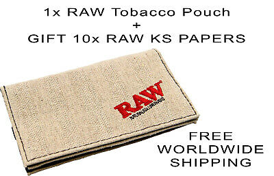 Raw Smoking Wallet Tobacco Pouch For Rolling Papers And Tobacco
