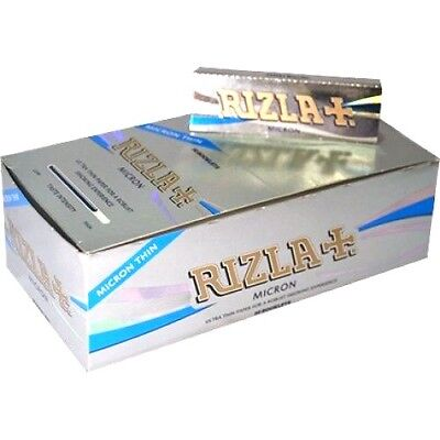 1x Box Rizla Micron Regular Cigarette  Rolling Papers - Box of 50 Booklets