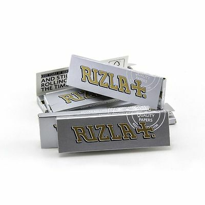 10x Rizla Silver Regular Cigarette Rolling Papers - pack of 10