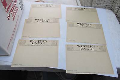 "6 New Un Used Western Union Blank Telegram Papers 1930's/1940""s Free Ship USA"