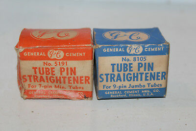 Vintage NOS Lot 2 General Cement GC Tube Pin Straightener 9 7 8105 5191