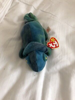 Rare TY Rainbow Beanie Baby Retired Tag with Errors