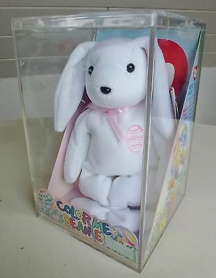 TY ty Beanie Babies color me, incl 6 Markers Stofftier Hase, 2003, Neu, Ovp, Top