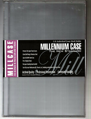 MILLCASE - NEW SEALED Comic Book Holder - Hard Case (5 Piece)