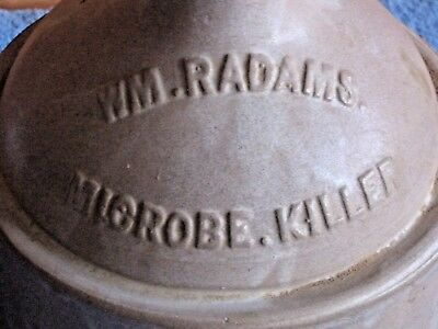 WM Radam's Microbe Killer Stoneware Gallon Jug Crock Rare Original Rare Cure All