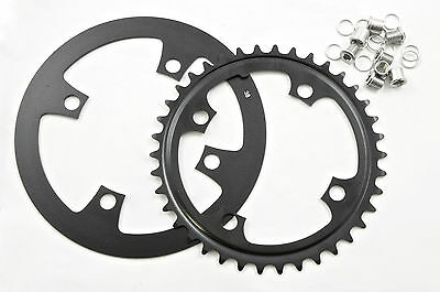 4 BOLT 38 TEETH MOUNTAIN BIKE/FIXIE 38T CHAINRING 104mm BCD + ALLOY GUARD