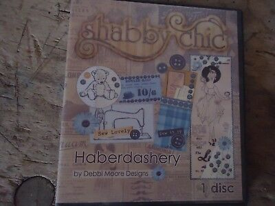 "Shabby chic ...   ""Debby Moore Designs "" Papercraft Motive CD - ROM"