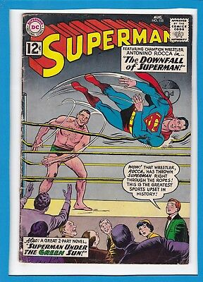 """Superman #155_August 1962_Very Good_""""the Downfall Of Superman""""_Silver Age Dc!"""