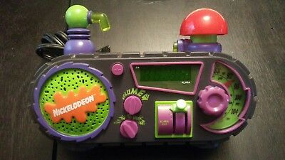 90s Nickelodeon Time Blaster Rise & Slime Alarm Clock Radio AM/FM Tested/Works!