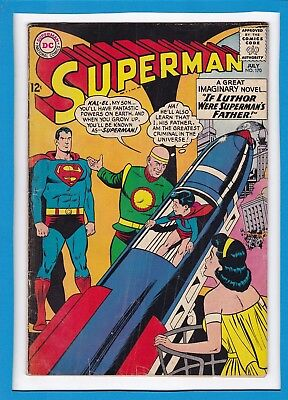 """Superman #170_July 1964_Good/very Good_""""if Luthor Was Superman's Father""""!"""