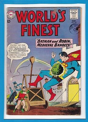 World's Finest #132_March 1963_Good/very Good_Superman_Batman_Silver Age Dc!