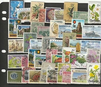 Stamps of Barbados - 40+ Different Used.