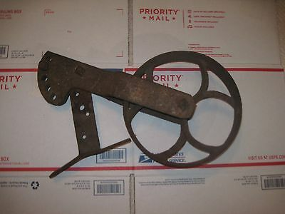 Antique Cast Iron Fly Wheel Pulley Vintage Cart STEAMPUNK industrial ART Metal