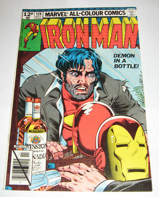 """The Invincible IRON MAN Marvel Comic issue 128 """"Demon in a Bottle"""" Romita Art"""