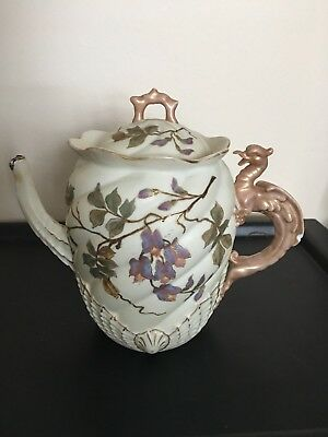 vintage tea pot or coffee pot maybe hand painted