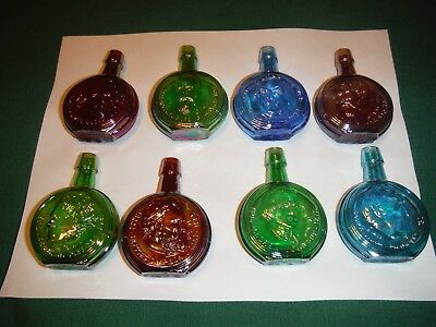 "VTG Wheaton  Mini Presidential Carnival Glass 3"" Decanters Collection LOT OF- 8"