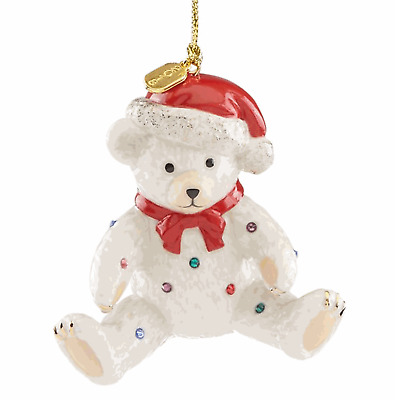 Lenox 2018 Holiday Gems Teddy Bear Ornament