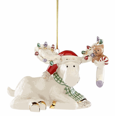 Lenox 2018  Annual Marcel's Christmas Stocking Moose Ornament