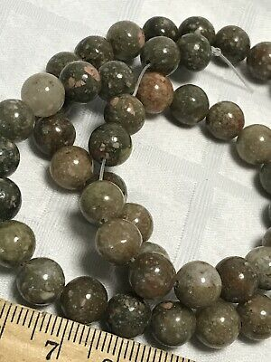 Autumn Jasper Gemstone Beads-Round 8mm-Natural Earthy Coral Green & Brown Hues