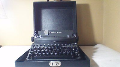Antique Portable Underwood 77/noiseless Typewriter In Hard Case Work's